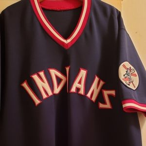 Mens Majestic Cleveland Indians Throwback Jersey